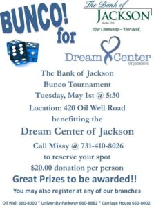 BUNCO! @ The Bank of Jackson | Jackson | Tennessee | United States